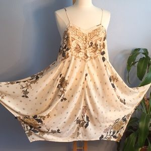 Free People Embroidered Handkerchief Dress